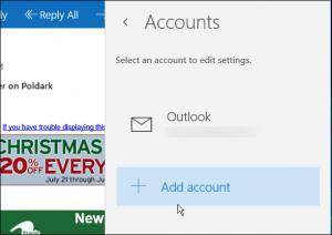 Windows 10 Add Account