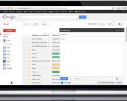Gmail on Laptop